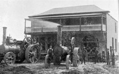 This house was successfully removed bodily at the Taieri, for a distance of more than half a mile. - <i>Otago Witness</i>, Steam Tractor, Labour Day, Toyota Tundra, Steam Engine, Mail Art, Locomotive, New Zealand, Tractors, Distance
