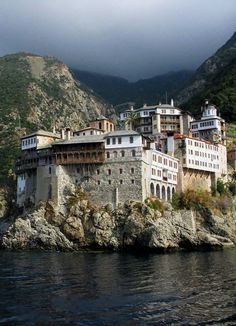 Dionisiou Monastery, Mount Athos, Greece Beautiful Castles, Beautiful Places, The Holy Mountain, Europe, Paradise On Earth, Parthenon, Greece Travel, Architecture, The Good Place