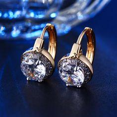 24 K chapado en oro del perno prisionero Exquisito AAA cubic Zirconia Joyería para mujeres Accesorios bijouterie BAGUE envío gratis MYE019