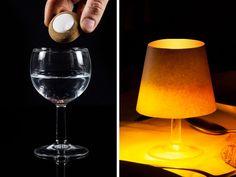 Flytande lampa som gör glas och skålar till bordslampor! CoolStuff.se