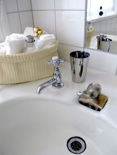 nice little IKEA Lidan basket for face towels, and Semvik cup for water