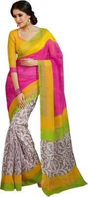 Buy Ishin Printed Art Silk Sari Online at Best Prices In India | Flipkart.com