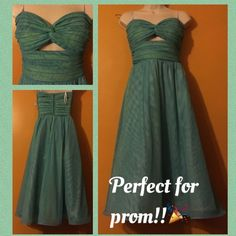Beautiful blue and green prom dress  Worn once, in great condition!! Tadashi neiman marcus Dresses Prom