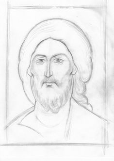 Teaching drawing more free materials on our site… Painting Process, Painting & Drawing, Line Drawing, Byzantine Icons, Byzantine Art, Religious Icons, Religious Images, Church Icon, Teaching Drawing