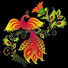 Paradise bird, Russian folk art