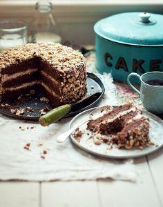 Chocolate crispy cake ! #food #chocolatecake #teatime