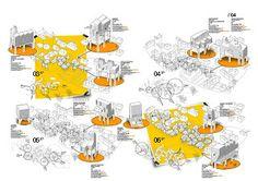 a f a s i a: 98 del Val / Gonzalo Gutiérrez - Dubrovnik, Republika Hrvatska Architecture Collage, Architecture Board, Architecture Graphics, Architecture Drawings, Architecture Details, Rendering Architecture, Famous Architecture, Architecture Diagrams, Architecture Portfolio