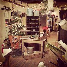 Vintage Christmas display ideas