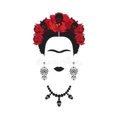 Download Frida Kahlo Face svg, png, eps, dxf file, cut files ...