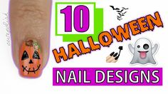 10 fun and easy (and a little spooky!) DIY nail art designs for you to try...they are all good...good luck choosing just one....maybe you should wear all of them through the fall season leading up to Halloween!