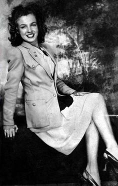 Marilyn Monroe - High School picture - back when she didn't have blonde hair!