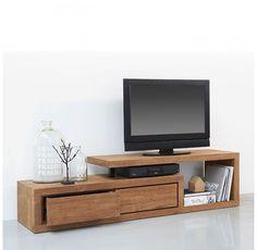 Bekijk de foto van ptd met als titel d-Bodhi teakhouten tv-meubel Lekk; mooie vormgeving, praktisch door de lades. en andere inspirerende plaatjes op Welke.nl.