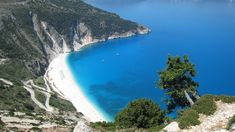 Myrtos Beach, Kefalonia island, Greece, one of the most beautiful beaches in the world List Of Greek Islands, Greek Island Hopping, Greece Islands, Most Beautiful Greek Island, Most Beautiful Beaches, Beautiful Islands, Myrtos Beach, Skiathos, Greek Isles