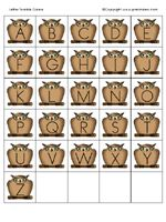 a great site for letter-recognition & writing games.  featured: a matching game for lower & uppercase letters.