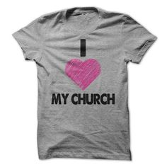 I Heart My Church Tee - Sports Grey - Pink Heart - #funny hoodie #maroon sweater. PRICE CUT => https://www.sunfrog.com/Faith/I-Heart-My-Church-Tee--Sports-Grey--Pink-Heart.html?68278