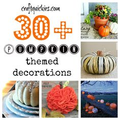 30+ Pumpkin Ideas for Halloween