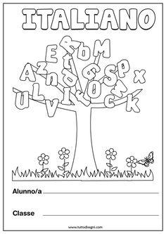 copertina-italiano-albero2 1st Day Of School, Middle School, Back To School, Teaching Kindergarten, Preschool Classroom, Italian Language, Learning Italian, Teaching Materials, First Grade