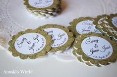 Etiquetas detalles personalizadas para la boda de Saray y Juan Jose - Anuski´s…