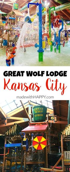 Great Wolf Lodge Kansas City   Family Travel   Indoor Water Park   Hotel Resorts for Kids   www.madewithhappy.com
