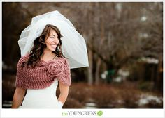 love the wrap...need to try to duplicate.../Anthropologie Inspired Wedding in Boise, Idaho, Photography by The Youngrens