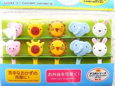 Animal Cupcake Toppers Cute Picks by TheKawaiiKitchen on Etsy, $5.00