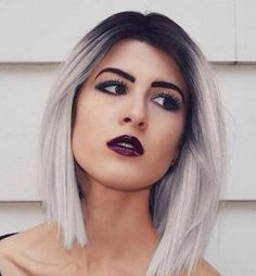 40 Hair Сolor Ideas with White and Platinum Blonde Hair ash+blonde+hair+with+black+roots - Station Of Colored Hairs Ash Blonde Hair, Platinum Blonde Hair, Dark Hair, White Hair, Platnium Blonde Ombre, Golden Blonde, Hair Dos, Pretty Hairstyles, Bob Hairstyle