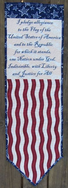 Pledge of Allegiance Quilted Wall Quilt or Wall by QuiltingGranny  #americanflag