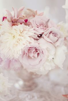 So soft! Light Pink flowers from Style Me Pretty