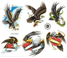 tattoo drawing | Eagle Flying Tattoos Art