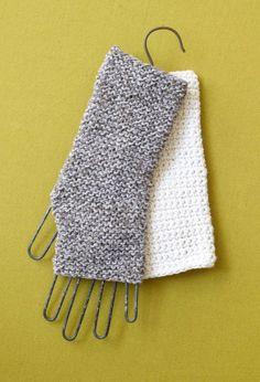 easy to make fingerless gloves