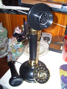 Vintage Candlestick Telephone by VintagedeLeleusions on Etsy, $49.95