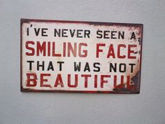 beauty is a smile