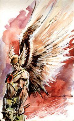 Hawkman Watercolor