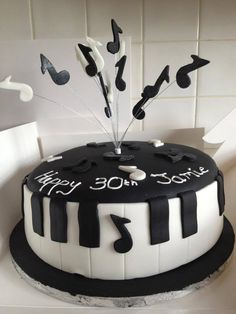 Funky Striped Birthday Cake Designed created by The Cheltenham