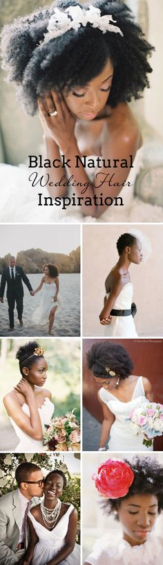 Black Natural Wedding Hair Inspiration | SouthBound Bride www.southboundbride.com/black-natural-hair-inspiration Credit: Kurt Boomer // Rad+In Love // Elizabeth Messina // Anne Robert // Cheri Pearl // via GWS // Amelia Johnson Photography