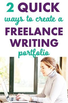 If you want to be a freelance writer you need to have a portfolio. Here are two super easy and quick ways to create a portfolio from scratch! Creating A Portfolio, Writing Portfolio, Writing A Book, Writing Tips, Make Money Online, How To Make Money, Freelance Writing Jobs, Make Money Writing, Business Motivation