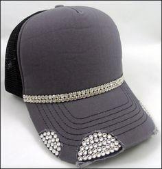 Swarovski Trucker Hat Featuring Swarovski by VelvetSpadeDesigns, $38.00