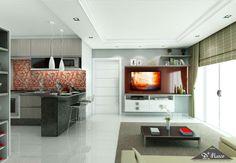 Para que o ambiente integrado fique ainda mais bonito, opte por usar tons semelhantes na decoração.