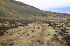 Rapa Nui / Easter Island / Isla de Pascua. Hanga O'Teo, on the northeast coast. Rapa Nui landscape (24). Photo: Mike Seager Thomas, UCL Rapa Nui Landscapes of Construction Project. You are welcome to use/ circulate the photo but please credit it to the project