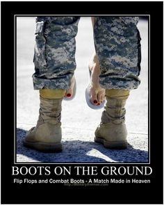 Boots on the Ground never felt so good. militaryblog.mili...