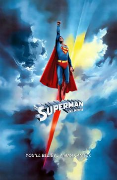Superman (directed by Richard Donner, starring Christopher Reeve, Marlon Brando, Gene Hackman) movie poster 1978