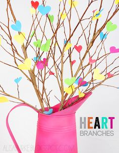 alisaburke: heart branches.  great centerpiece for valentine's day