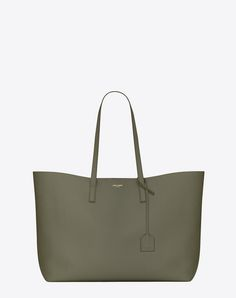 SAINT LAURENT LARGE SHOPPING SAINT LAURENT TOTE BAG IN MILITARY KHAKI | YSL.COM