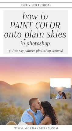 This video tutorial will show you how to paint pretty color onto plain skies in Photoshop using the Sky Painter Photoshop Actions! Plus, download a free sample of these actions to try out on your own photos! #freeactions #photoshopactions #photoshoptutorials #editingskies #freephotographytutorials #freephotoshoptutorials Photoshop Tutorial, Adobe Photoshop, Best Photoshop Actions, Photoshop Photos, Photoshop Youtube, Photoshop Elements, Photoshop Website, Photoshop Face, Photoshop Celebrities