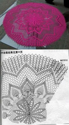 Luty Artes Crochet Centro De Tapetes Crochet Crochet Doilies y Filet Crochet, Crochet Doily Diagram, Crochet Doily Patterns, Crochet Art, Crochet Stitch, Thread Crochet, Crochet Motif, Vintage Crochet, Crochet Designs