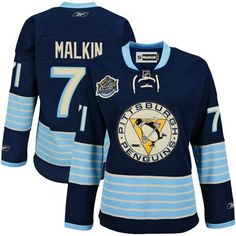 77450f46 Penguins #71 Evgeni Malkin Women 2011 Winter Classic Vintage Stitched Dark  Blue NHL Jersey Stanley