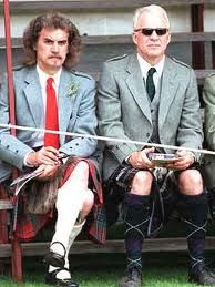 Billy Connelly AND Steve Martin in kilt Billy Connolly, Outlander, Tartan Kilt, Steve Martin, Men In Kilts, Star Wars, Hollywood Stars, Funny People, Comedians