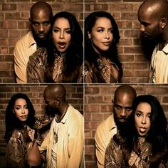 DMX and Aaliyah photo shoot