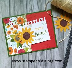 CTMH Grateful Heart and Flower Market Cricut sunflower Scrapbook Cards, Scrapbook Layouts, Scrapbooking, Fall Themes, Decorative Borders, Grateful Heart, Paper Crafts For Kids, Thanksgiving Cards, Paper Hearts