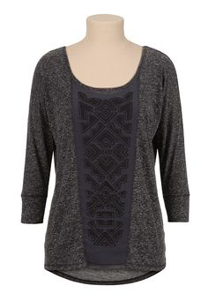 High-low Chiffon Geometric Panel Top (original price, $29) available at #Maurices